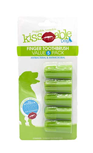 Kissable Dog Dental Finger Brush For Dogs | Dental...