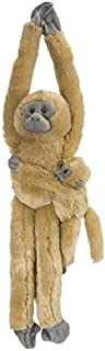 Wild Republic  Common Langur w/baby Plush, Monkey Stuffed Animal, Plush Toy, Gifts for Kids, Hanging 20 Inches