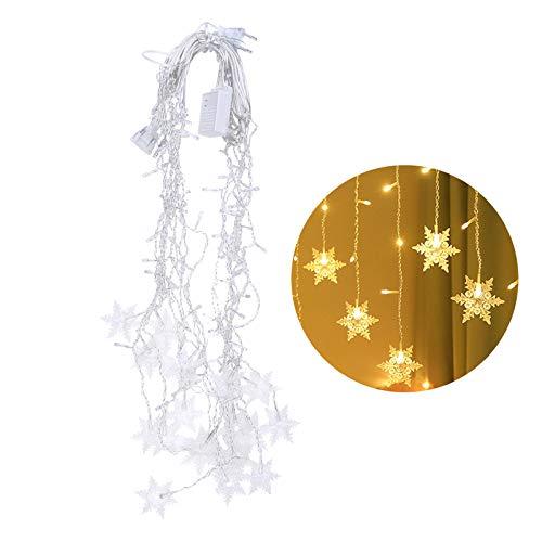 N/A. Guirnalda de luces LED 2020, romántica fiesta de cumpleaños, boda, copo de nieve, lámpara para el hogar, dormitorio, ventana, armario, cortina, decoración