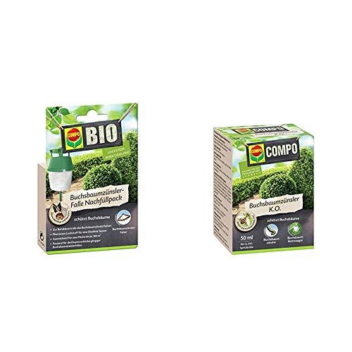 Compo Buchsbaumzünsler-Falle Nachfüllpack, 3 Stück, Insektizid-frei & Buchsbaumzünsler K.O, Bekämpfung von Schädlingen an Buchsbäumen, 50 ml