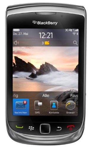 BlackBerry Torch 9800 Smartphone (8,1 cm (3,2 Zoll) Display, Touchscreen, 5 Megapixel Kamera, QWERTZ-Tastatur) schwarz mit Vodafone-Branding