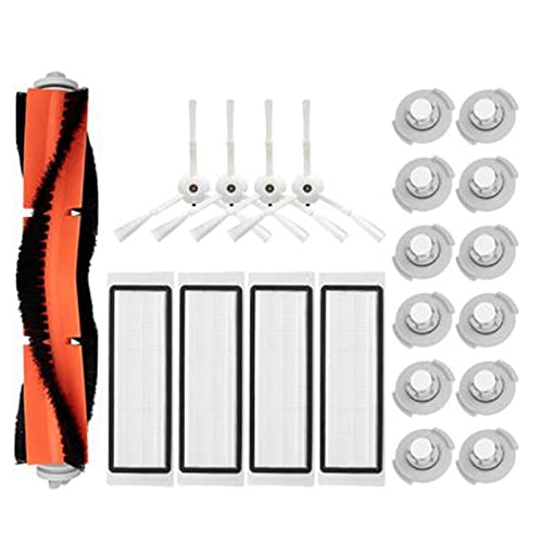 Piezas de barredora Cepillo Lateral Principal Filtro HEPA/Ajuste for VACÍO/Ajuste for ROBOROCK S5 S50 S55 S6 Accesorios de Repuesto de Robot de vacío. (Color : White)