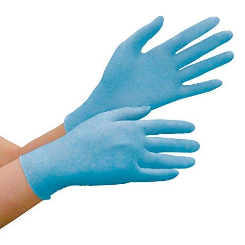 ミドリ安全 極薄 滑り止め 使い捨て ニトリル手袋 ベルテ780N 粉なし 青 M 100枚