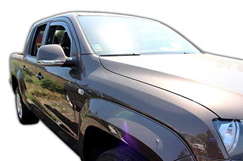 J&J AUTOMOTIVE Windabweiser Regenabweiser für AMAROK 4-türer ab 2009 2tlg HEKO dunkel