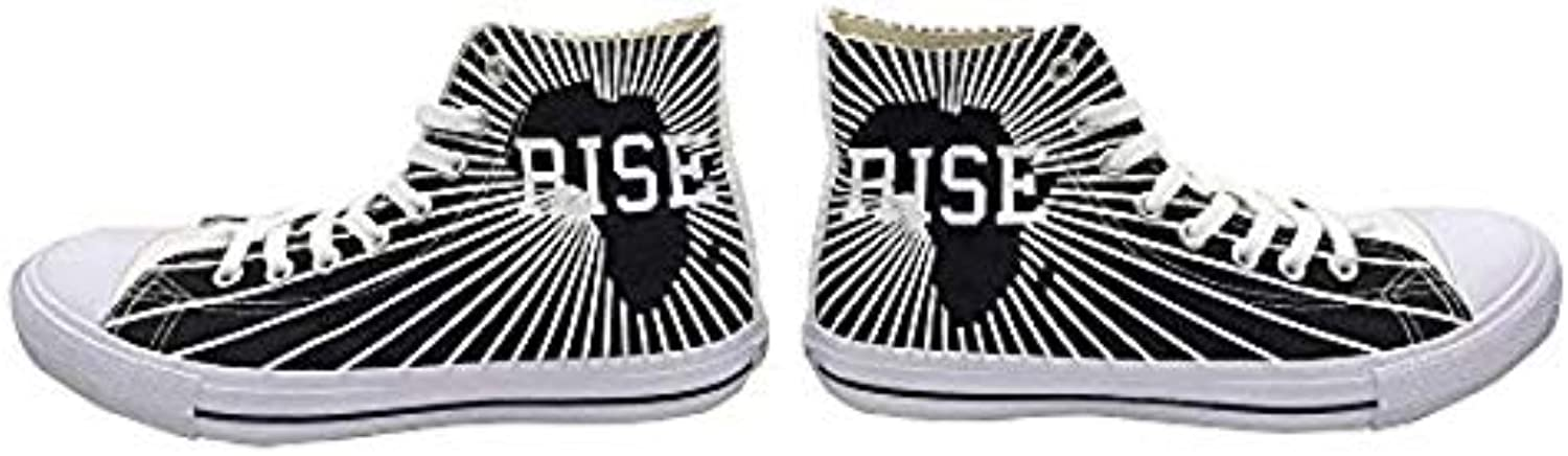 Fangafrika Wear Rise Africa Canvas High Top Sneakers