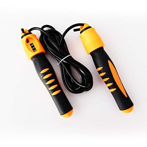 DYW Corde à Sauter Comptage de Corde de Saut Corde de Saut réglable réglable d'essai d'équipement de Perte de Poids de Forme Physique d'adulte (Color : Yellow)