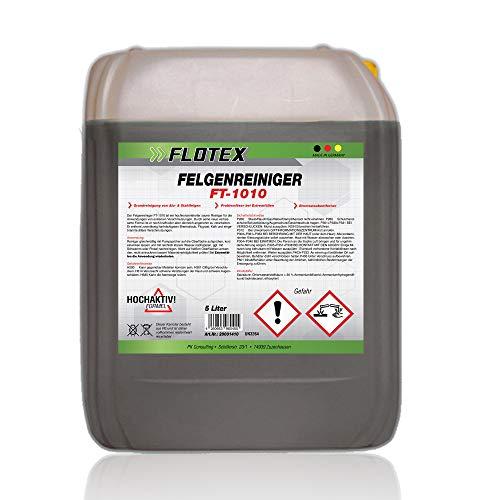 Flotex® Felgenreiniger Konzentrat, 5L - Felgenreinigung für alle Felgen, reinigt selbst hartnäckigsten Schmutz und Flugrost