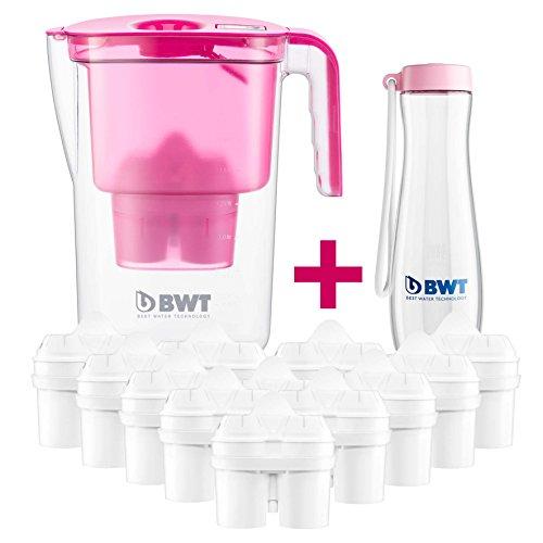 BWT - 815533 - Tischwasserfilter VIDA - 2,6 l, pink - Wasserfilterkanne mit 13 Filter-Kartuschen für Magnesium Mineralized Water