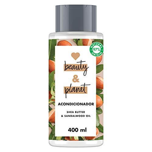 Love Beauty and Planet - Acondicionador para Cabello seco, Manteca de Karité y Sándalo Vegano - 400 ml