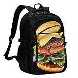 Fredeulva Laptop Backpack Hamburger Cheeseburger Backpack With Usb Charging...