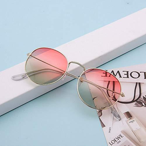 ukYukiko ronde metalen stijl gepolariseerde zonnebril vintage kleur spiegel nieuw merk ontwerp