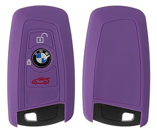 Yayago siliconen hoes voor BMW 3-toetsen autosleutel sleutel beschermhoes etui sleutelhoes motorvoertuig bescherming cover
