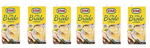 6X Star Brodo Pollo Brodo Liquido Pollo Pasti Pronto Pollo 1Lt