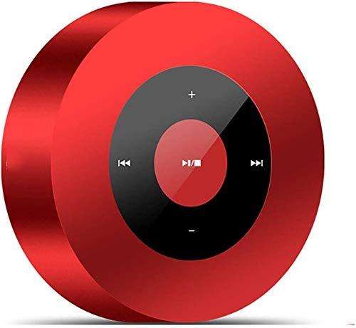 Mopoq Bluetooth-Lautsprecher-beweglich Wireless Outdoor Lautsprecher Kanone Computer-Karte Subwoofer Auto Ladegerät Home-Player-Lautsprecher (Color : Rot)