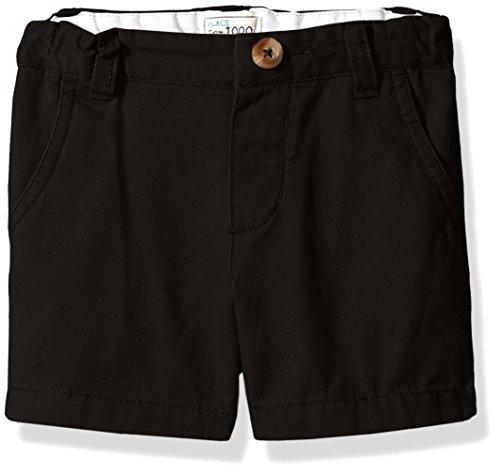 The Children's Place Boys Toddler Uniform Chino Shorts, Black, 2T