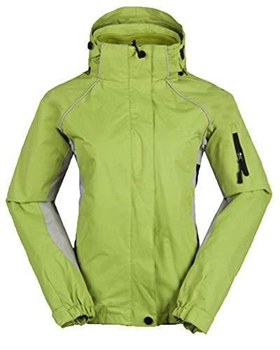 PengGengA Frauen Unisex DREI In Einem Und Zwei Sätzen Covert Jacket Snowboardjacke Mit Kapuze Grün M