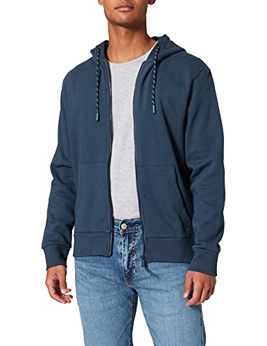Springfield Sudadera Abierta básica Reconsider, Azul Medio, XL para Hombre