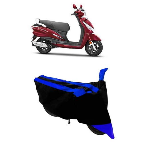 Duffel®- Water Resistant Two-Wheeler Body Cover Special Design for Hero Destini 125 (Double Stripe Blue)