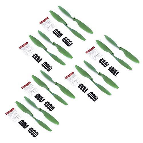 4 Pares / 5332 hélices de Drone/Apto para dji/Ajuste para Mavic Air Air Lanzamiento rápido de Ruido CW CCW Blades Props FPV Drone Plegable RC Accessories Piezas (Color : Green)