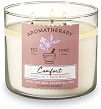 Bath and Body Works 3 Wick Scented Comfort Aromatherapy Candle Vanilla and Patchouli 14.5..