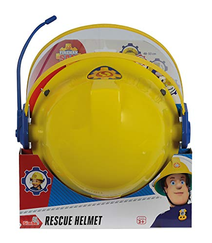 Smoby 109258698002 Fireman Sam Helmet with Microphone Adjustable Helmet for Children from 3 Years