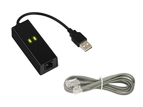 Kalea Informatique Fax Modem 56 K über USB-Port – 1 RJ11 – Chipset Conexant