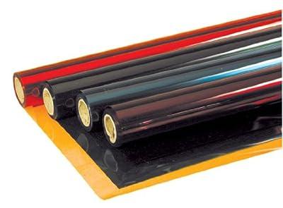 Transparent colour film roll, 1.2m x 7.62m, yellow