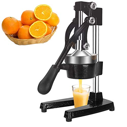 Sibosen Professional Citrus Juicer, Manual Citrus Press and Orange Squeezer, Metal Lemon Squeezer, Heavy Duty Manual Orange Juicer and Lime Squeezer