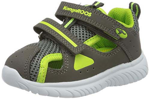 KangaROOS KI-Rock Lite V Unisex Baby Sneaker, Grau (Steel Grey/Lime 2014), 27 EU