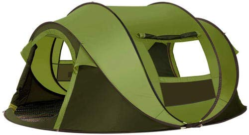 GFSDGF 4-Person Pop Up Tent - Automatic Instant Tent - for Picnic Camping Portable Cabana Beach Tent Tent 4 Windows Privacy Wall Carry Bag