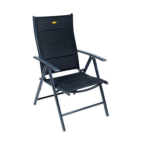 Camp 4 - Silla reclinable con estructura oscura modelo Ischia