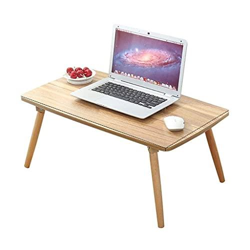 Mesa de centro Mesas laterales mesita de noche for espacios pequeños rectangular plegable de madera maciza piernas móvil más pequeño de Mesa de ordenador portátil Soporte de la tabla de Sofá / dormito