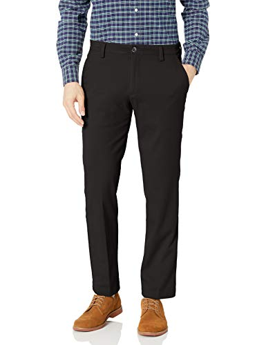 Dockers Men's Straight Fit Easy Khaki Pants D2, Black (Stretch), 32  30