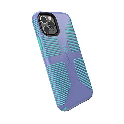Speck CandyShell Grip iPhone 11 Pro Case, Wisteria Purple/Mykonos Blue
