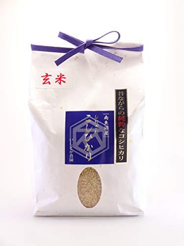 いしざか農園 昔ながらの純粋なコシヒカリ慣行栽培 玄米 1kg