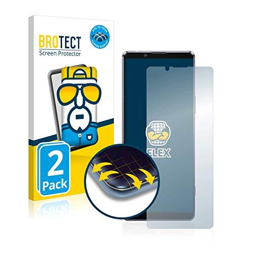 Preisvergleich Produktbild BROTECT Full-Cover Schutzfolie kompatibel mit Sony Xperia 1 II (2 Stück) - Full-Screen Displayschutz-Folie,  3D Curved,  Kristall-Klar