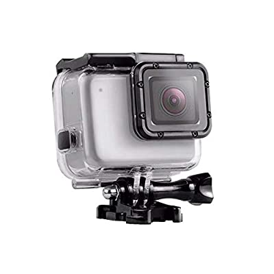 ParaPace Waterproof Housing Case for GoPro Hero 7 White/Silver,Protective 45m Underwater Dive Case Shell with Replaceable Touch Back Cover for GoPro Camera Accessories, New Year Gifts from ParaPace