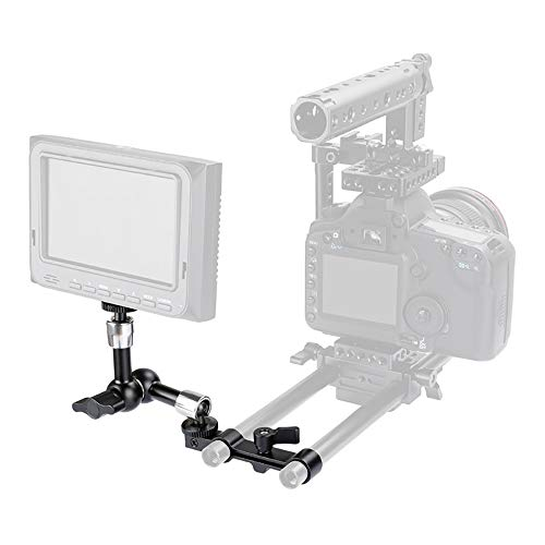 LFTS Mini Braccio articultating da 7 Pollici Magic con Morsetto da 15mm 1/4'Thread carico Massimo 7kg per Luce Fotografica Monitor LCD Monitor Mini Ball Head Camera Rig