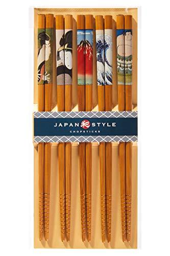 Japanese Chopsticks Japan Style Chopsticks Premium Quality Natural Bamboo...