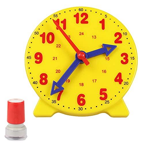 Reloj De Aprendizaje Para Niños De Plástico 2 Piezas Reloj De Aprendizaje Del Estudiante Niño Aprendizaje Aprendizaje Reloj Aprender Para La Educación Digital De La Primera Infancia