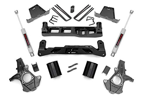Rough Country 7.5' Lift Kit (fits) 2007-2013 Chevy Silverado GMC Sierra 1500 2WD | N3 Shocks | Suspension System | 26330