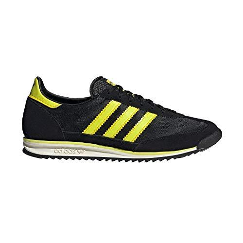 adidas SL 72, Zapatillas Deportivas Hombre, Core Black Acid Yellow Off White, 43 1/3 EU