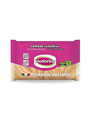 Inodorina Toallitas limpiadoras Perros y Gatos - Sensitive proteína de Leche 40 unid