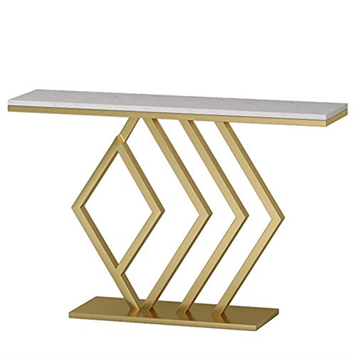 YaGFeng Mesa De Consola Moderno Minimalista Porche gabinete Forjado Hierro Porche marmol...