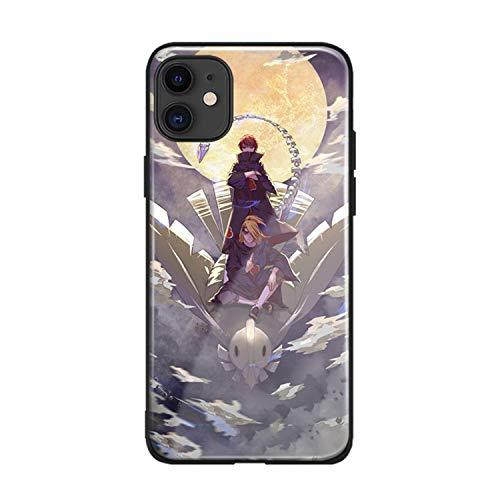 Deidara Sasori Akatsuki anme Phone case Glass Shell for iPhone SE 6s 7 8 x xr xs 11 12 Mini pro max Plus