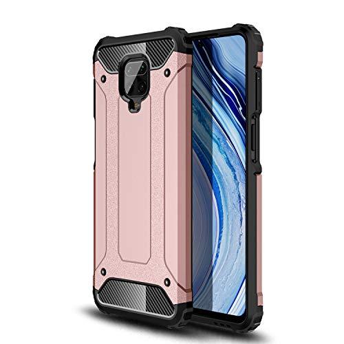 HUUH Funda para Xiaomi Redmi Note 9S/Redmi Note 9 Pro/Redmi Note 9 Pro MAX,Funda Protectora sólida y Duradera, airbag de Cuatro Esquinas,Caja del teléfono Anti-caída(Rosado)