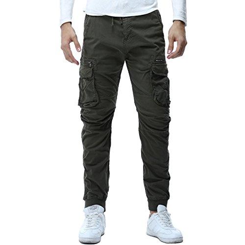 AYG Pantalones Slim Cargo Para Hombre Largos Casuales Deporte 28-38