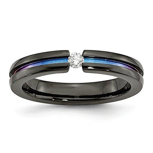 Alianza de boda de titanio negro con...