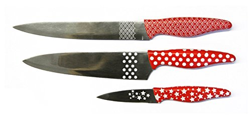 CMP 923104 Office Chef Set de 3 Couteaux Décorés