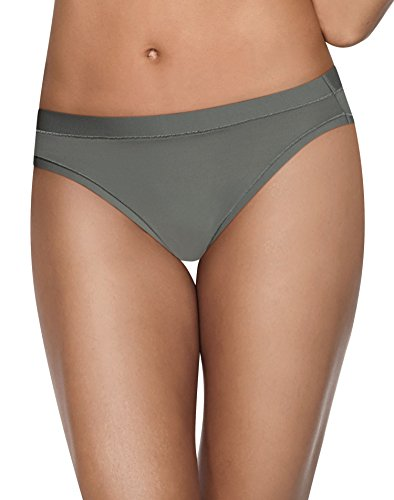 Hanes Women's Ultimate Cool Comfort Bikini, Buff/Silver/Grey/Black, 7